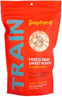 Pupford Freeze-Dried Training Treats from 450 Treats Per Bag, Low Calorie, The Perfect High Value Training Reward (Comes in Beef Liver & Sweet Potato)