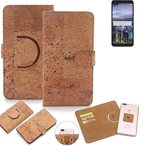K-S-Trade® Handy Schutz Hülle Für Sharp B10 Korkhülle 1x