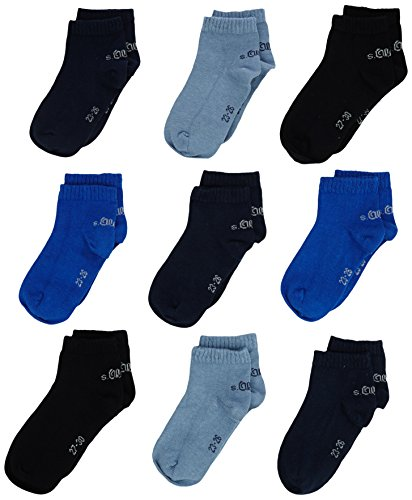 s.Oliver Socks Jungen   Basic S21010,  9er Pack Blau (blue 30),  39-42 ( Herstellergröße: 39/42),