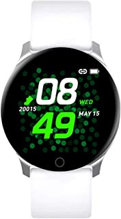 """Lamkei Bouncefit TBand Round Smartwatch [iOS/Android Compatible, IP67 Water Resistant, White Silicone Strap, 1.3"""" OLED Dis..."""