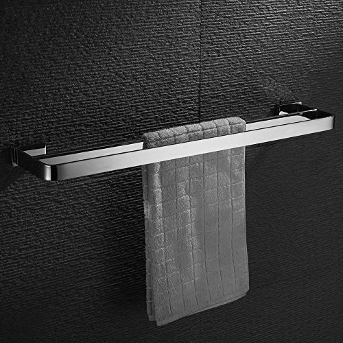 Homovater SUS304 Edelstahl Handtuchstange Doppelt badezimmer Handtuchhalter wand bad handtuchhalter Zeitgenössischer Stil Poliert 60cm