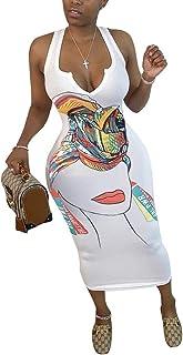 Doufine Women's Bodycon Fashion Summer Slim-Fit Sleeveless Long Maxi Dress