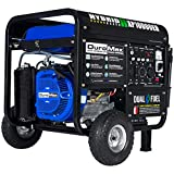 DuroMax XP10000EH Dual Fuel Portable Generator - 10000 Watt Gas or Propane Powered-Electric Start- Home Back Up & RV Ready, 50 State Approved