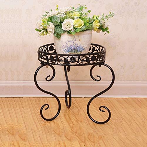 Étagère à Fleurs Support de Fleur de Balcon de Plancher de Fer forgé, Plateau de Pot de Fleur d'orchidée Succulent de Radis Vert d'intérieur et extérieur Multi-Fonction
