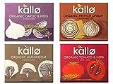 Kallo Cubos orgánicos veganos en caja mezclada, 4 x 66 g