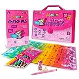 Mimtom Plantillas de Dibujo Kit de Manualidades para niños y niñas con 270 Figuras | Plantillas para Pintar Que desarrollan la Creatividad | Desde los 4 años