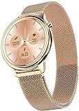 Exquisito reloj inteligente de señoras, multifuncional de monitoreo de salud impermeable pulsera deportiva, regalo de las señoras -