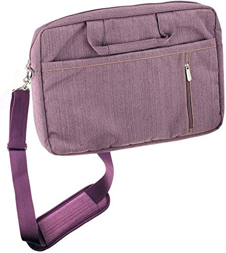 Navitech Purple Premium Messenger/Carry Bag Compatible with The FUJITSU Notebook LIFEBOOK E559