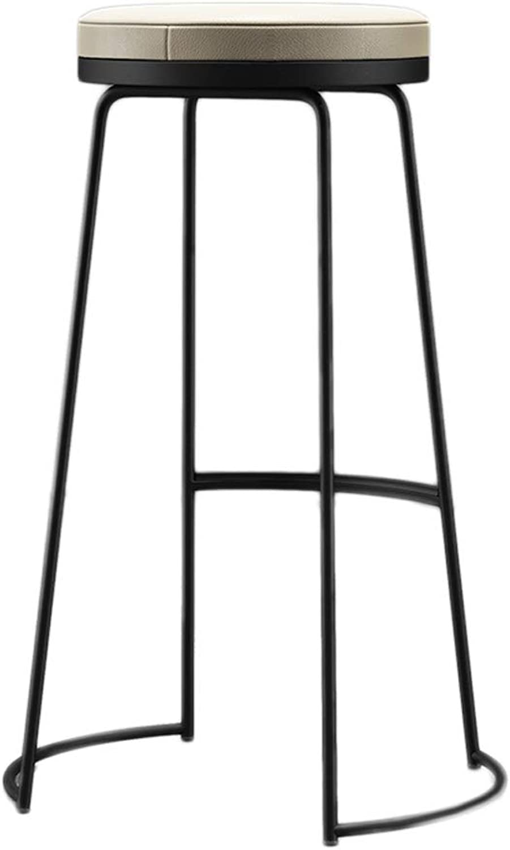 TXXM Barstools Bar Stool high Stool bar Stool Breakfast Stool Counter Stool Multicolor Black (color   B, Size   75cm)