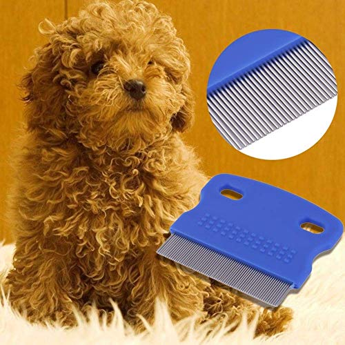 Super Deal - Peine para perros, cepillo de acero, peine para el pelo, para el cuidado de perros, para mascotas, gatos y perros