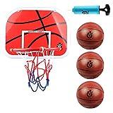 DBREAKS Canasta Baloncesto Infantil, Adecuado para Niños y Niñas de 6 Años(3 Balones)