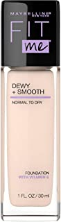 Maybelline New York Fit Me Dewy + Smooth Foundation Makeup, Fair Ivory, 1 Fl. Oz (Pack of 1)