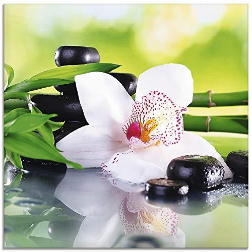 glasbilder mit orchideen