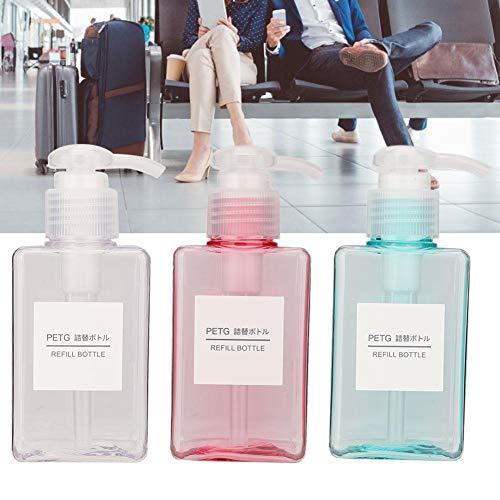 4 tipos de 3 piezas/set portátil, bolsas y estuches botellas de viaje y envases de maquillaje vacío, kit de contenedor de crema de loción para botella de spray