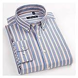 XJJZS Algodón oxford shirts camisas casual suave vestido camisas sociales ajuste regular camisa grande tamaño 8xl (Color : C, Size : 47 is Asian size 7XL)