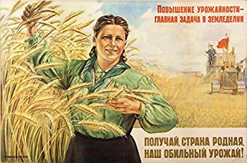 Russian Propaganda Poster Print Soviet Era Wall Decor - 12 x 18 inches  propaganda6