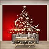 JKM Wallpaper 3D No Tejido Cartel De Pared Autoadhesivo Mural Tamaño Múltiple Navidad Árbol De Navidad Estrellas Mural Fotomural Papel Pintado Fondo De Pantalla Personalizado Hd Exquisito Tv Fondo Par