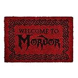 Herr der Ringe Paillasson Seigneur des Anneaux Bienvenue chez Mordor 60x40x1,5cm Rouge...