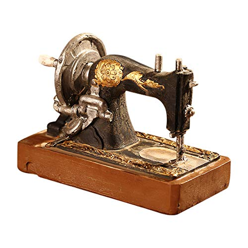 LINVINC Adornos para Máquinas de Coser - Adornos Retro Antiguo Vintage Retro Resina Adornos Mesa Oficina Cafe Casa, Estilo 4, 14 * 7.5 * 12cm