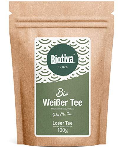Weißer Tee Pai Mu Tan Bio 100g *VERGLEICH.ORG PREIS-LEISTUNGS-SIEGER 2017* - handgepflückt - Weich, duftig und aromatisch - Fairbiotea-zertifiziert - nachhaltiger Teeanbau