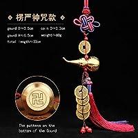 中国結び風水仏教の6つのマントラを飾るWuLouHuLu銅合金ひょうたんお守り家の装飾アクセサリー (LYZ HLCG)