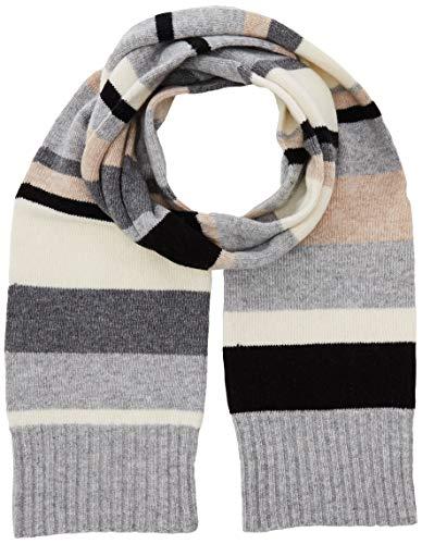 United Colors of Benetton Damen Sciarpa Misto Lana Righe Colorate Schal, Grau (Grigio Chiaro/Scuro 904), One size (Herstellergröße: OS)