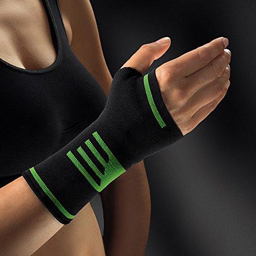 bort 1470SP medium ActiveColor Sport Daumen-Hand-Bandage für rechts und links gleich, medium, schwarz