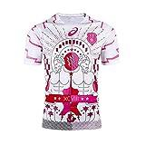 YINTE Paris Coupe du Monde De Football Jersey Loin, Coton T-Shirt Graphique De Rugby À Manches Courtes Maillots Pro, Jersey Football Formation Compétition Masculine XL