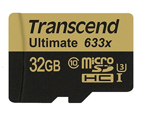 Transcend Ultimate microSDHC UHS-I U3 32GB Speicherkarte MLC mit SD-Adapter (95Mbps Lesen, 85Mbp Schreiben)