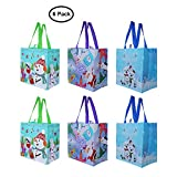 Earthwise Reusable Grocery Bags Shopping - Totes (Pack of 6) (Xmas-2018)
