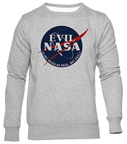 Delavi Evil NASA Jersey Hombre Mujer Unisex Gris Jumper Men's Women's Grey