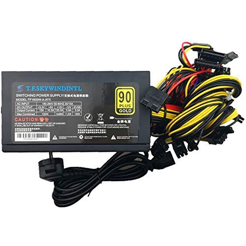 SAUJNN T.F.SKYWINDINTL 1600w 12v Power Supply Mining PSU 1600w Power