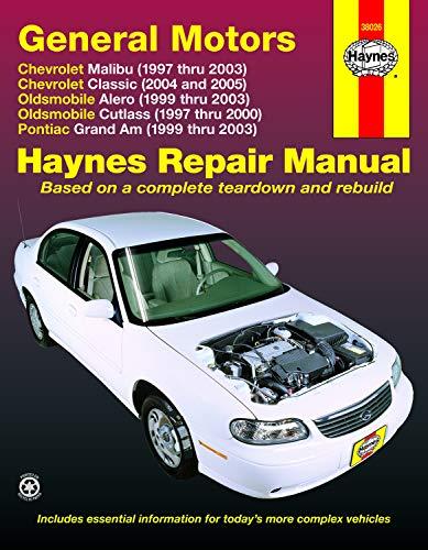 General Motors: Chevrolet Malibu (1997 Thru 2003) Chevrolet Classic (2004 and 2005) Oldsmobile Alero…