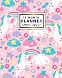 18 Month Planner 2021-2022: Pink Fantasy Unicorn Weekly Agenda, Diary, Organizer   Calendar with To Do Lists, Vision Boards, Notes, Holidays   Cute Rainbow Star Print
