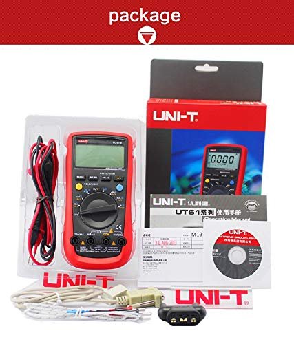 UT61B DMM Digital Multimeters 3999 Count Auto Range USB PC Software Auto Power Off Best Accuracy 1% 0.5s Fast Test