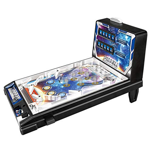RPFF Space Pinball Mini Pinball Table Toy Children Play Pinball Game Mini Parent-Child Puzzle Pinball Machine with Lights and Sounds Children's The Space Age Pinball Classic Game