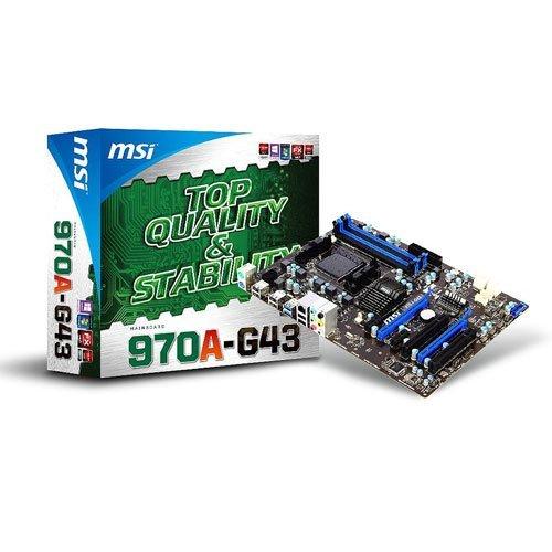 MSI 970A-G43 AMD 970 Chipset DDR3 AM3+ Socket Desktop Motherboard