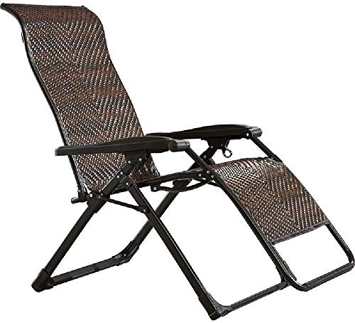 Suge Mecedora Tumbona plegable Tumbona reclinable Lazy ajustable con respaldo alto y apoyabrazos Ampliar jardín al aire libre Tumbona silla reclinable con mecanismo de bloqueo