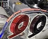 Funda protectora para tubos del compartimento del motor del coche. Resistencia térmica, rayos UV, aceite, gasolina, color rojo, diámetro disponible de 1 mm a 25 mm, se vende por metro (ID 20 mm)
