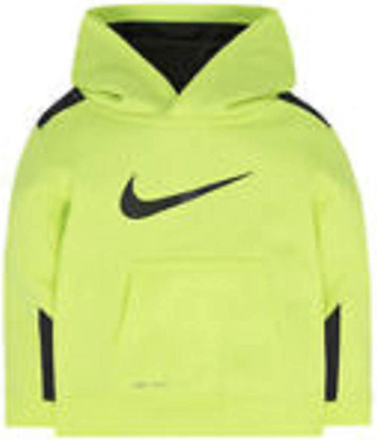 Nike Little Boys Therma Swoosh Training Hoodie Pullover (4,Volt)