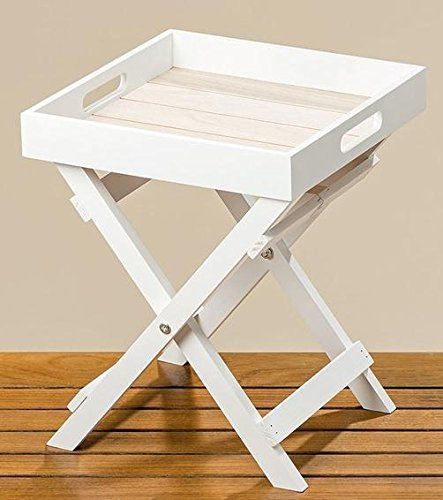 Deko Tablett-Tisch weiss