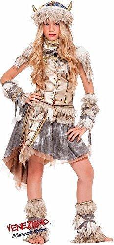 Fancy Me Italian Made Deluxe Prestige Sammlung Mädchen Wikinger Schule Buch Tag Woche Halloween Kostüm Kleid Outfit Alter 3-10 Jahre - 6 Years
