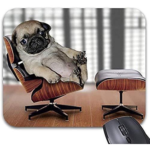 Mode entworfenes Mousepad 30 * 25 * 0,3 cm Büro-und Familien-Tischplattenauflage-Mops, der in einem Recliner-Stuhl kühlt. Print Mouse Mat Computerzubehör