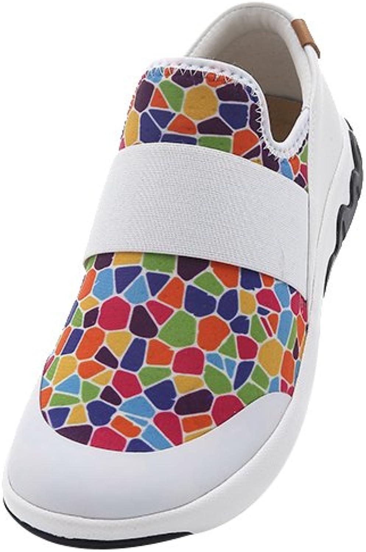 Färgrika Lycra Lycra Lycra Loafer -skor för kvinnor med färgfläckar  lycklig shopping