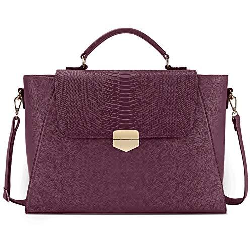 Briefcase for Women 15.6 Laptop Bag Business Messenger Bag Work Tote Bag Professional Shoulder Purse with Padded Compartment for Tablet Notebook Ultrabook Claret