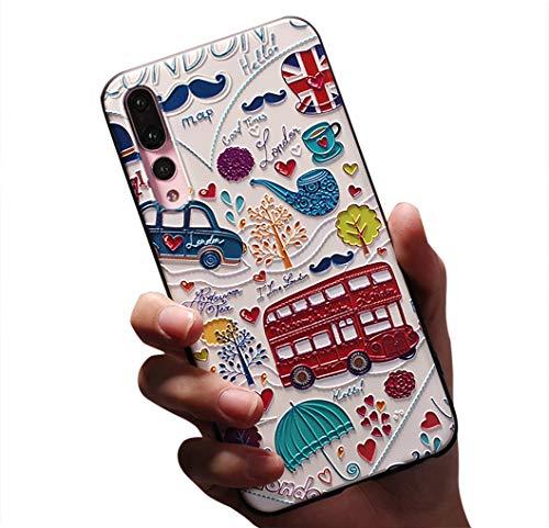 Jacyren Coque Huawei P20 Pro, Coque Housse P20 Silicone Cover Ultra Mince Housse de Protection [3D Motif de Créatif] Case Antichoc Anti-Rayures Coquille Étui Coque pour Huawei P20 Lite (10, P20 Pro)