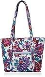 Vera Bradley Signature Cotton Small Vera Tote Bag, Neon Blooms