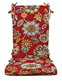RSH Décor Indoor Outdoor Foam Rocker Rocking Chair Pad Cushions, Cushion Back 18' W x 24' H and Seat 18' W x 20' D, Choose Color (Daelyn Cherry)