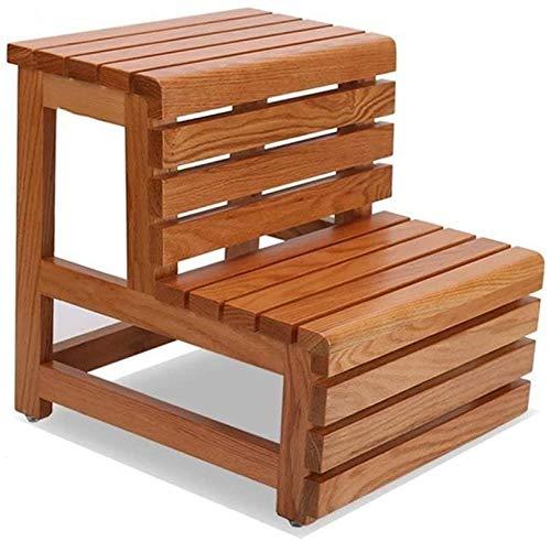 Multifuncional Escalera de Tijera Taburete de madera maciza de escalera para taburetes...