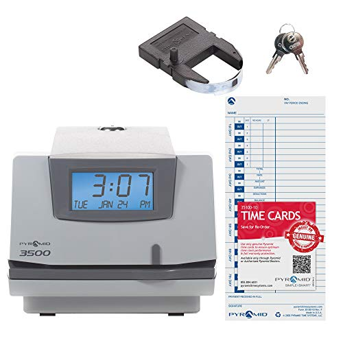 Pyramid 3500 Multi-Purpose Time Clock and Document Stamp - Made in the USA